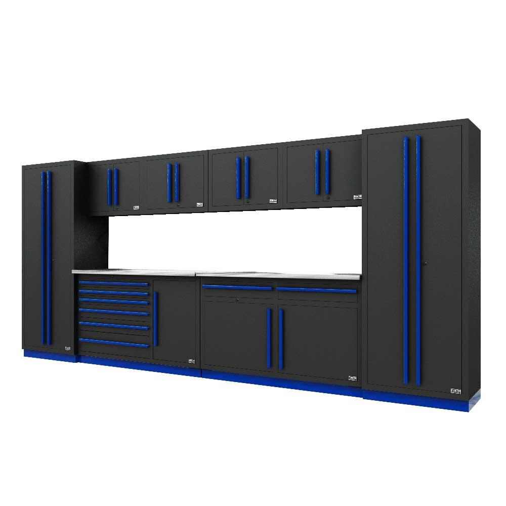 Proslat Fusion PRO 10 Piece Max Cabinet Set - Blue