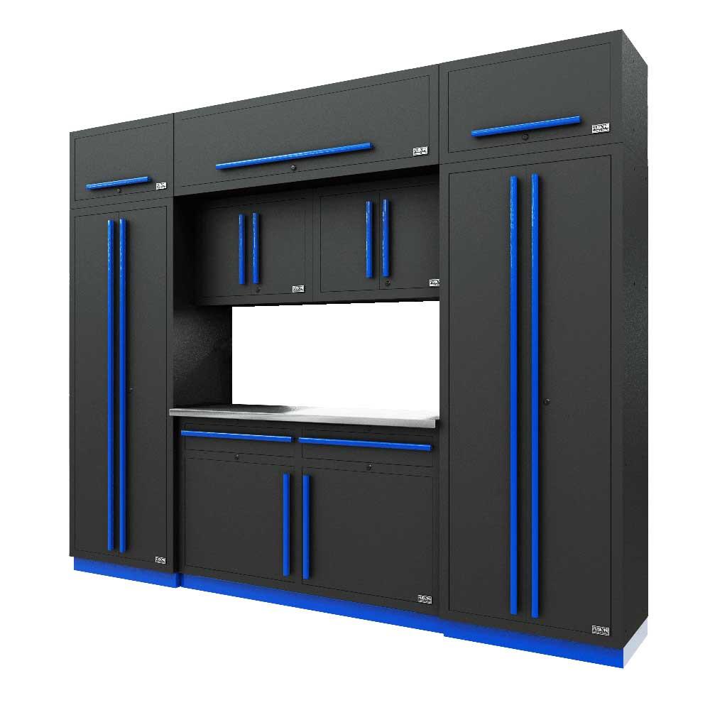 Proslat Fusion PRO 9 Piece Cabinet Set - Blue