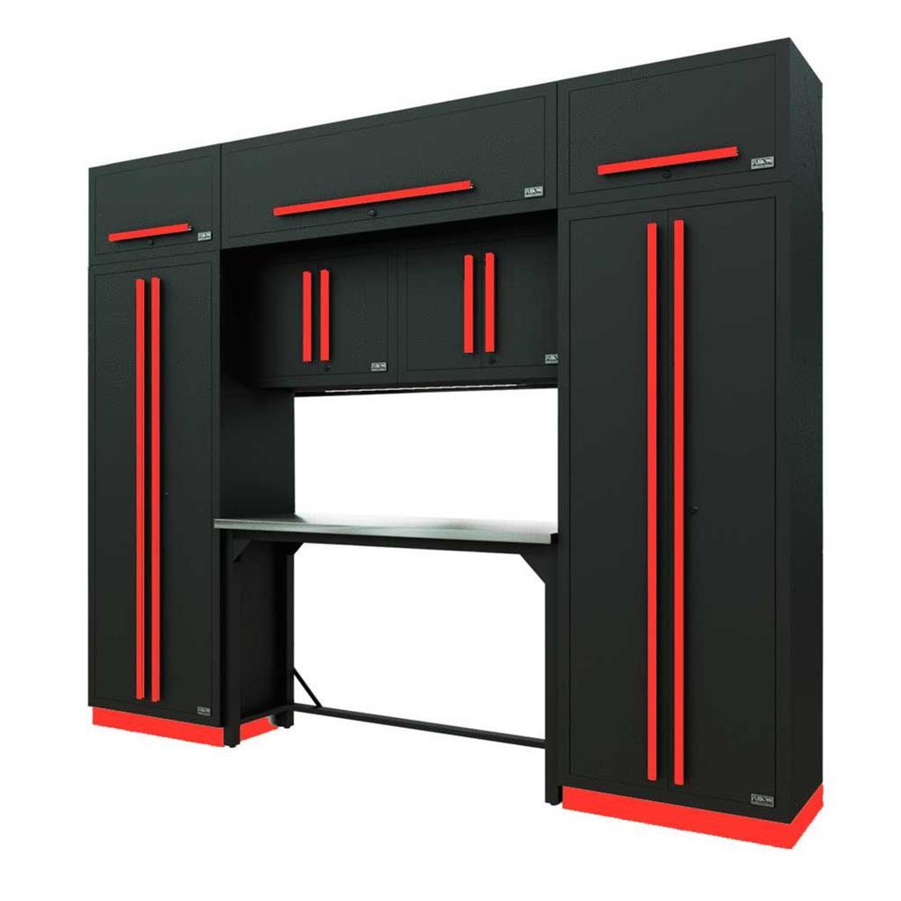 Proslat Fusion PRO 9 Piece Work Bench Set - Barrett-Jackson Red