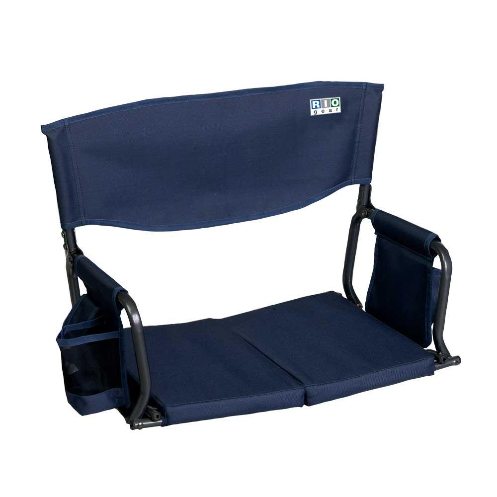 RIO Gear Bleacher Boss Folding Stadium Seat - Navy