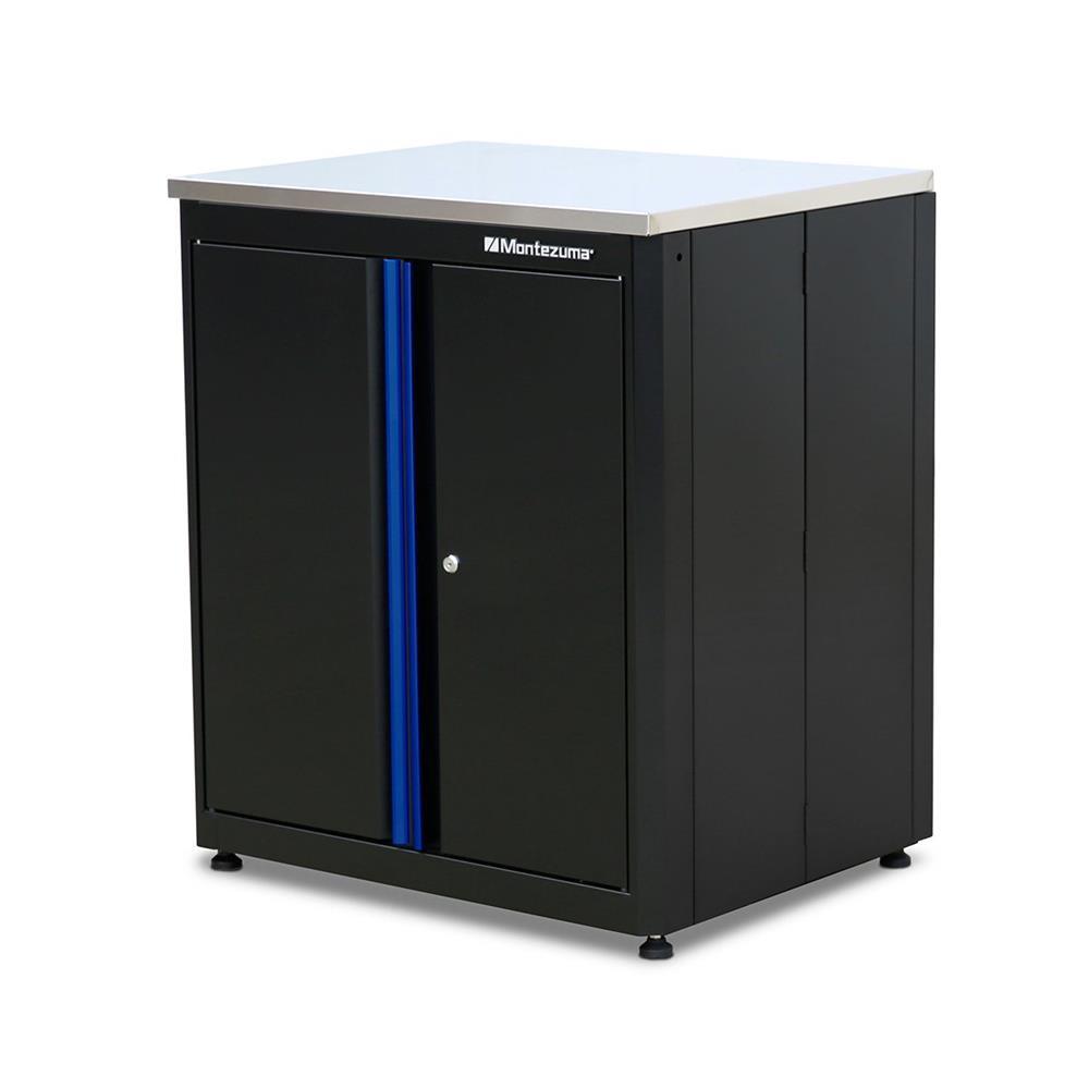 Montezuma 2-Door Base Cabinet with Stainless Steel Worktop