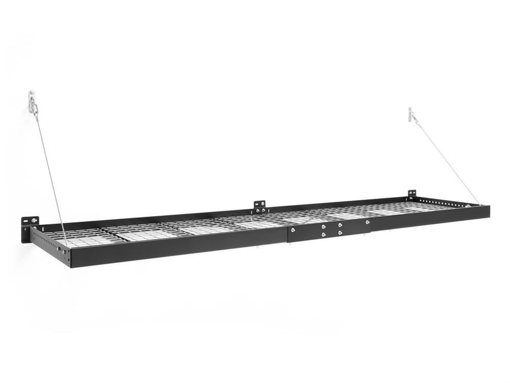 NewAge Pro Series 2 ft. x 8 ft. Wall Mounted Steel Shelf - Black (Set of 2)