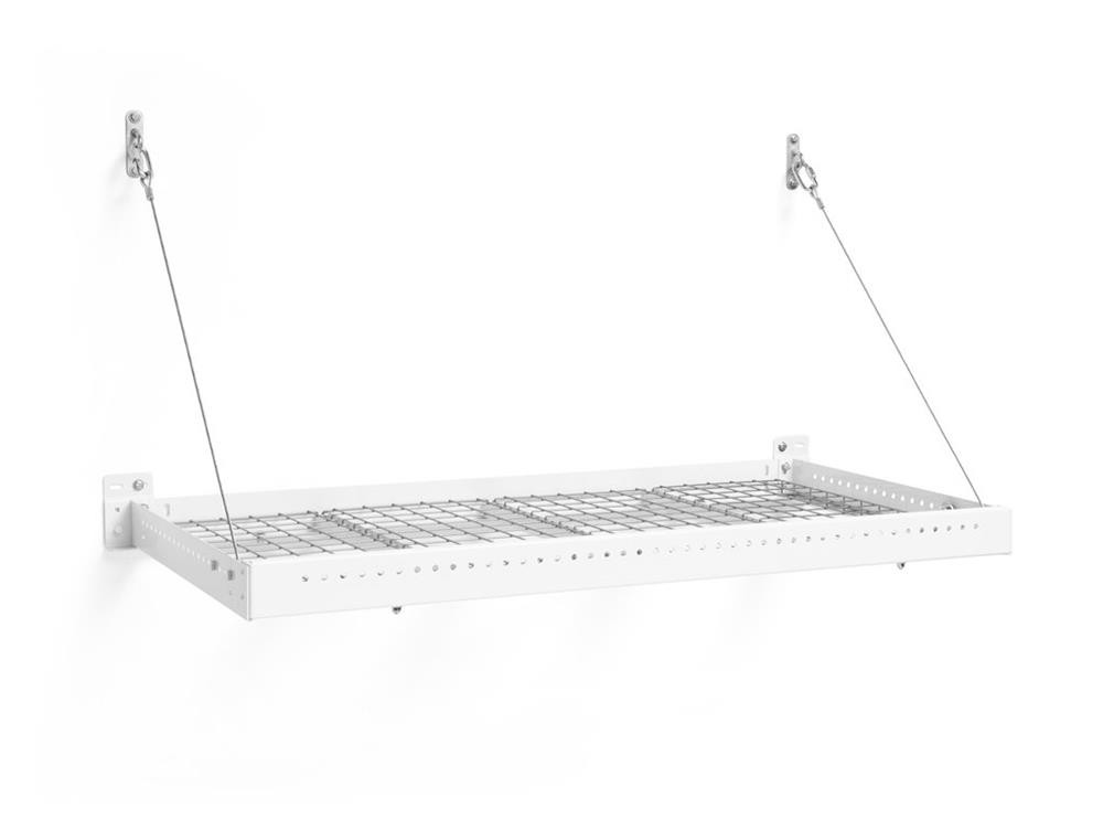 NewAge Pro Series 2 ft. x 4 ft. Wall Mounted Steel Shelf - White (Set of 2)