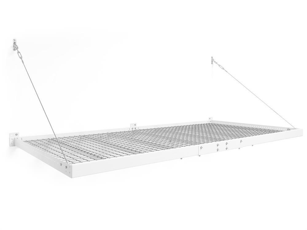NewAge Pro Series 4 ft. x 8 ft. Wall Mounted Steel Shelf - White