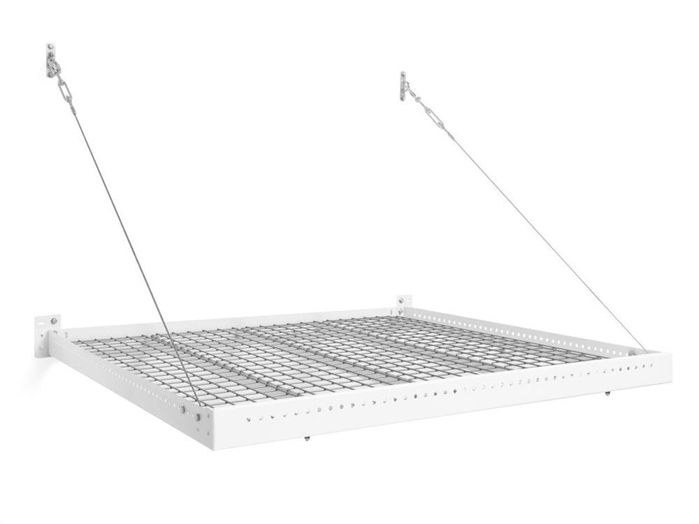 NewAge Pro Series 4 ft. x 4 ft. Wall Mounted Steel Shelf - White