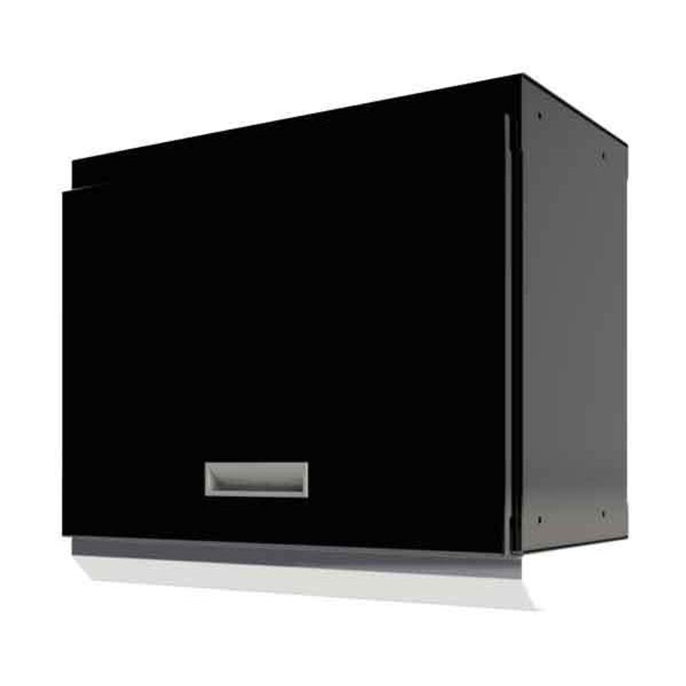 """Moduline Select Series 28""""W Aluminum Overhead Cabinet With Light Shield - Black"""