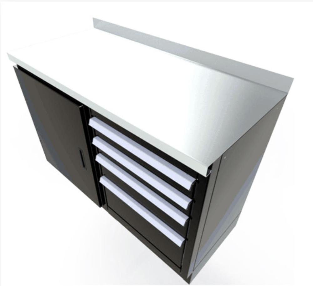 Moduline Select Series Stainless Steel Countertops, 22 Deep