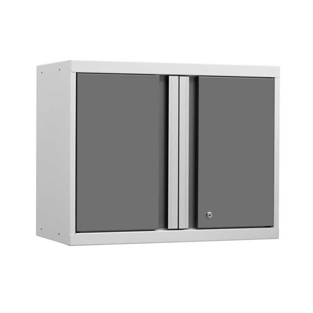 NewAge Pro Series 3.0 White w/Platinum Door Wall Cabinet