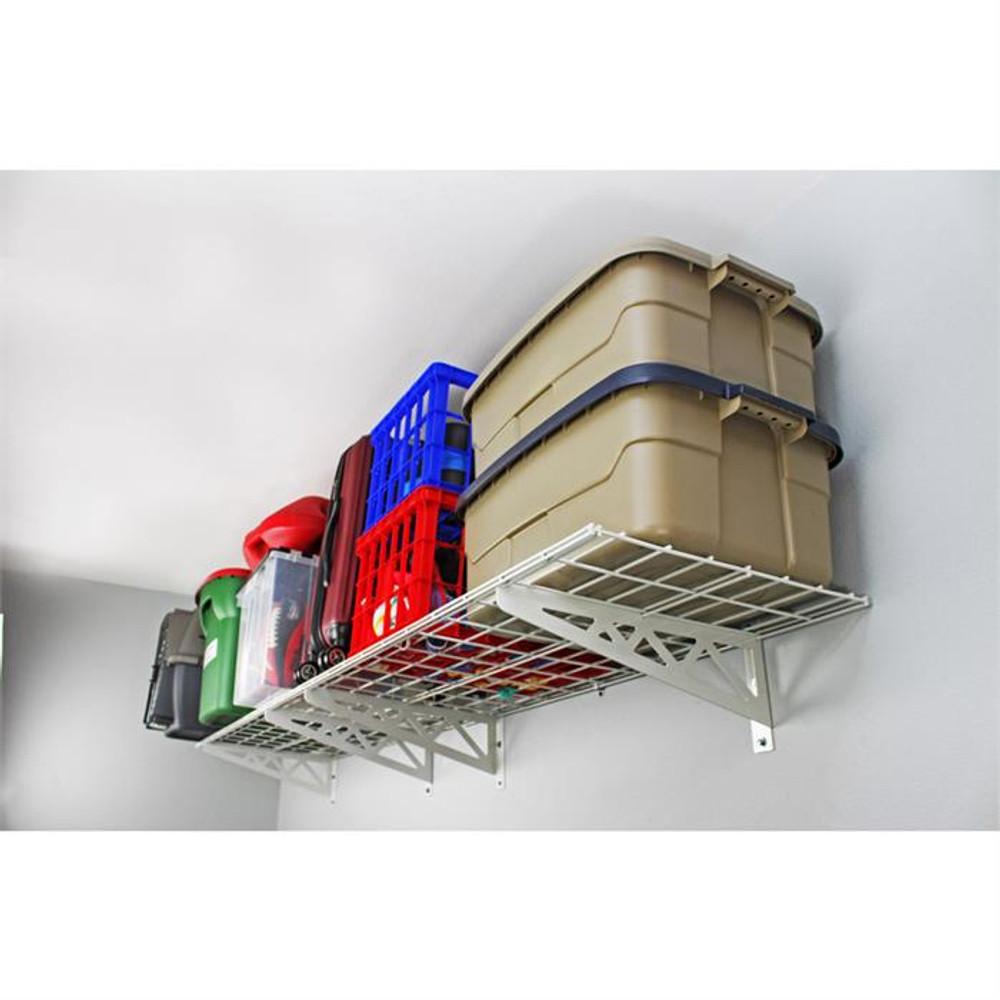 """SafeRacks 24"""" x 48"""" (2-Pack) Wall Shelves - White"""