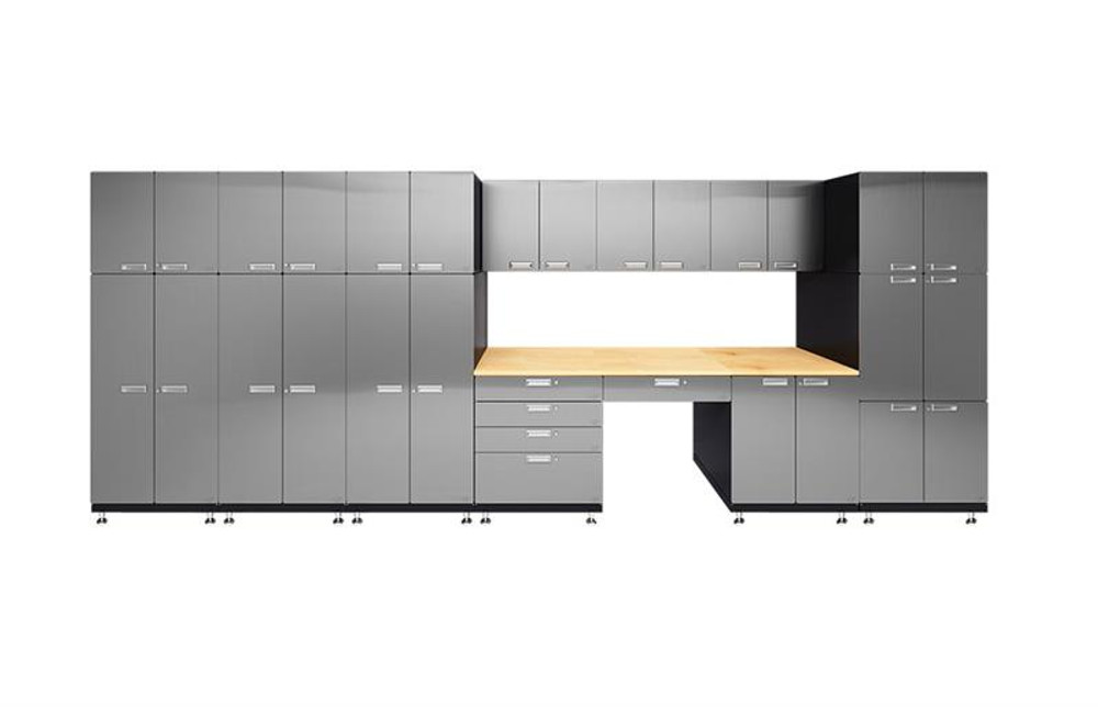 Hercke 11-Piece Stainless Steel Garage Cabinet Set