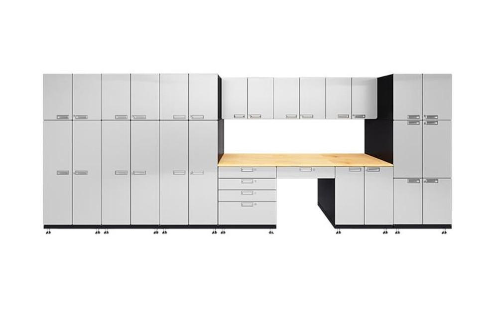 Hercke 11-Piece Powder Coated Garage Cabinet Set