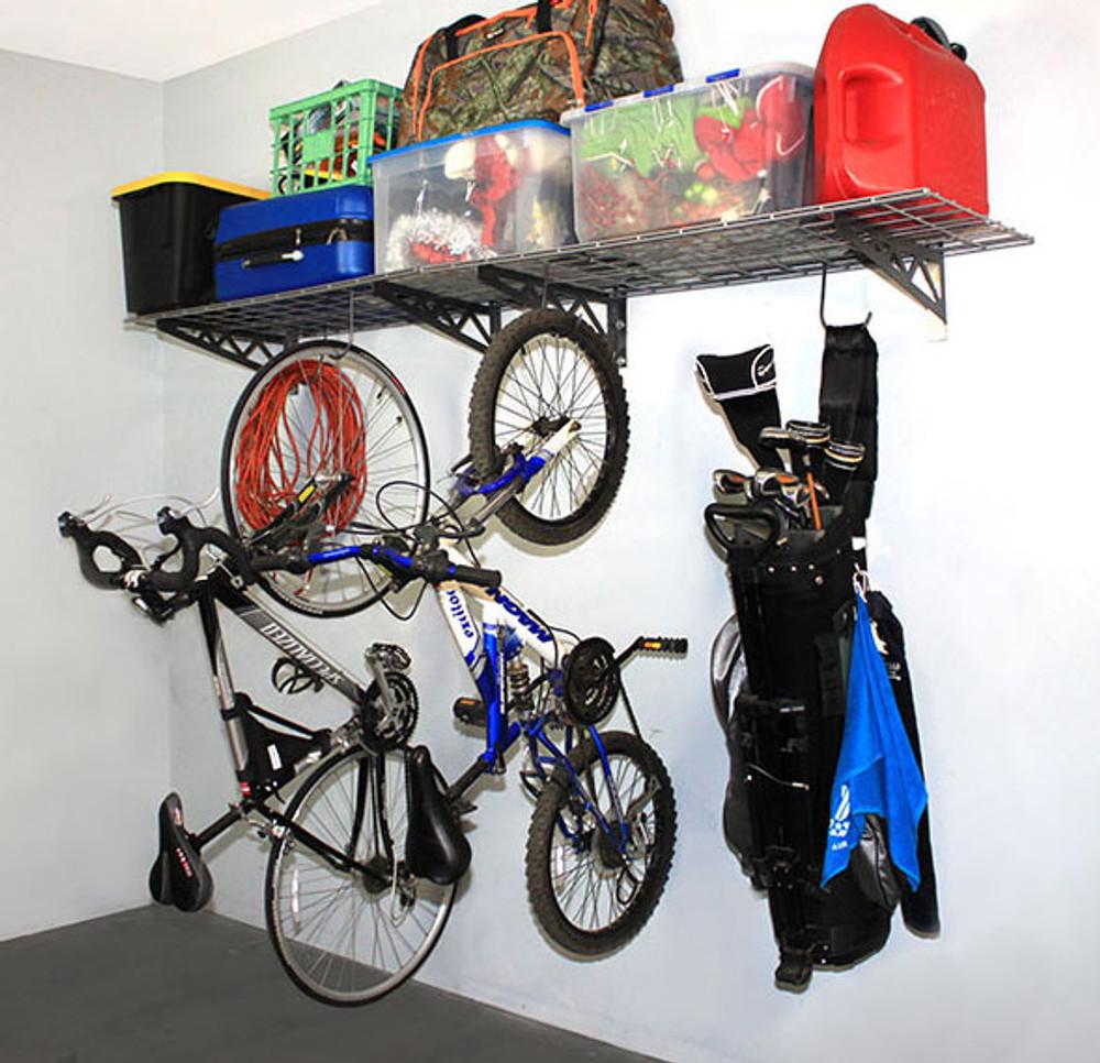 """SafeRacks 18"""" x 48"""" (2-Pack) Wall Shelves - Hammertone"""