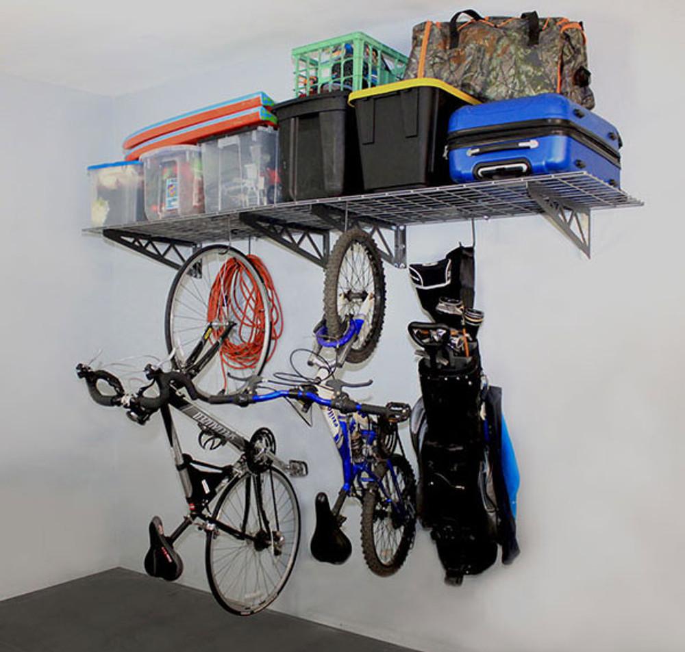"""SafeRacks 24"""" x 48"""" (2-Pack) Wall Shelves - Hammertone"""