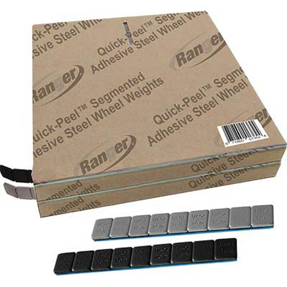 Ranger Adhesive Steel Wheel Weights, Black/Silver Combo, 1400 pcs