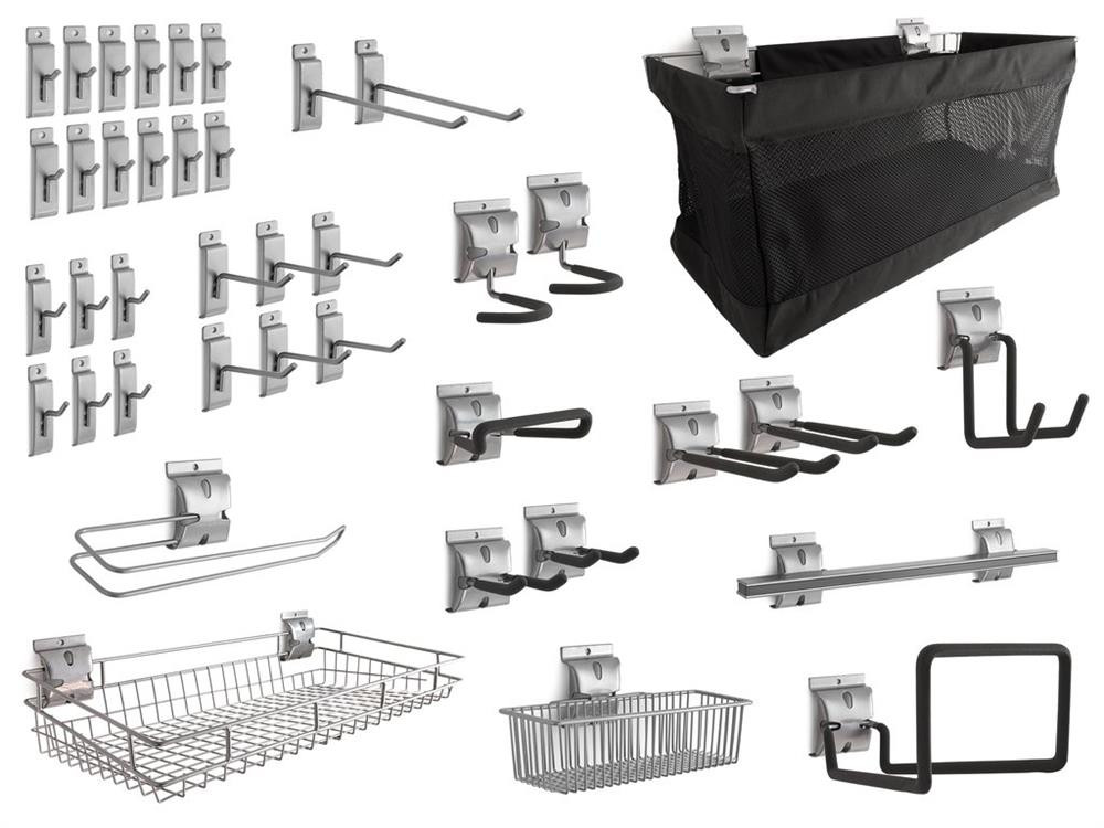 NewAge 40-Piece Steel Slatwall Accessory Kit