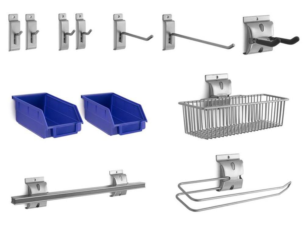 NewAge 12-Piece Steel Slatwall Accessory Kit