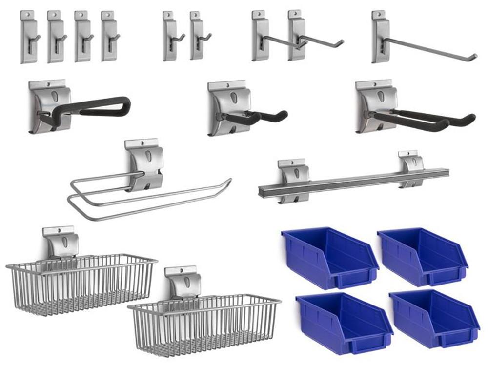 NewAge 20-Piece Steel Slatwall Accessory Kit
