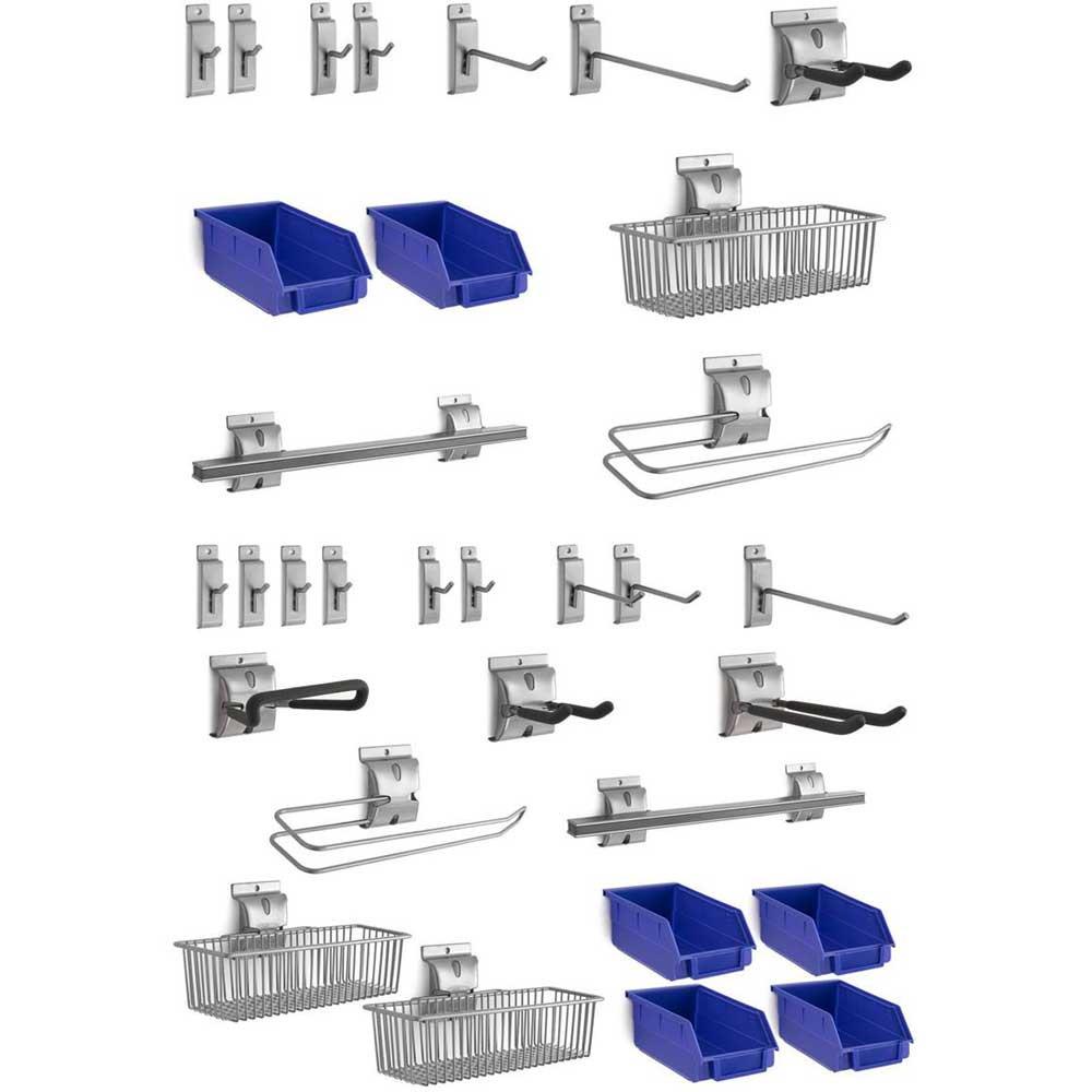 NewAge 32-Piece Steel Slatwall Accessory Kit