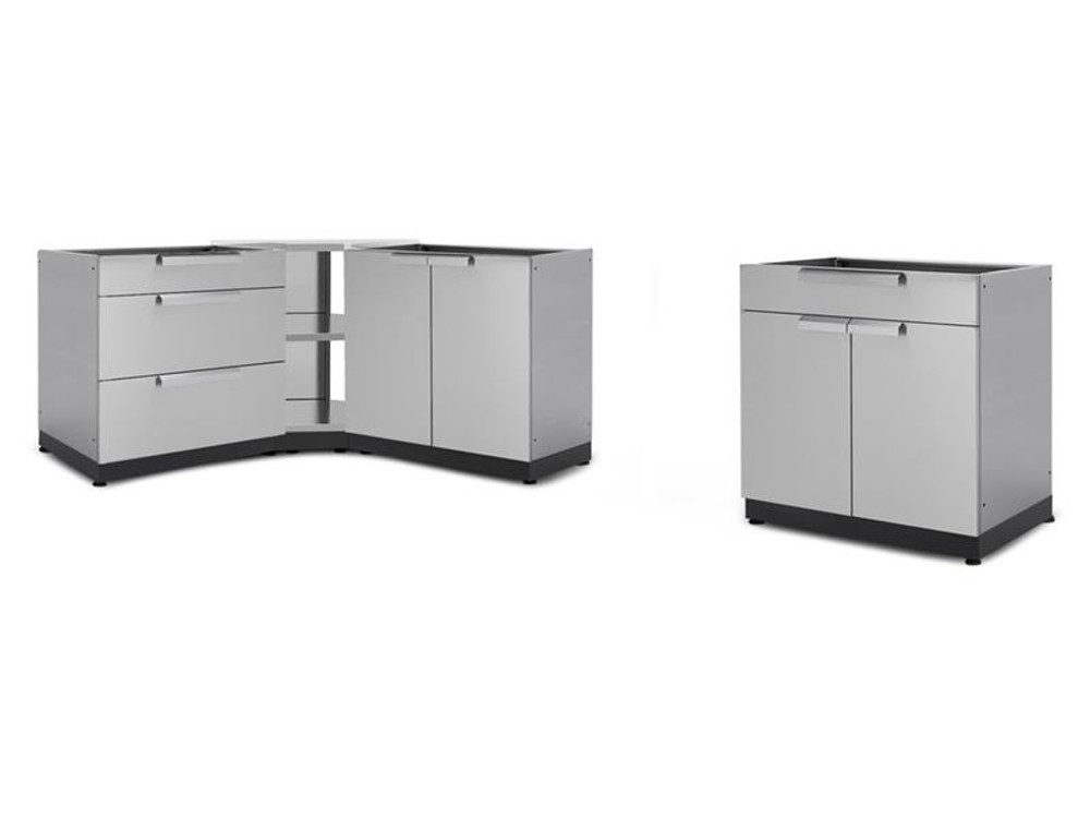 "NewAge Stainless Steel 184""W x 24""D Outdoor Kitchen Combo"