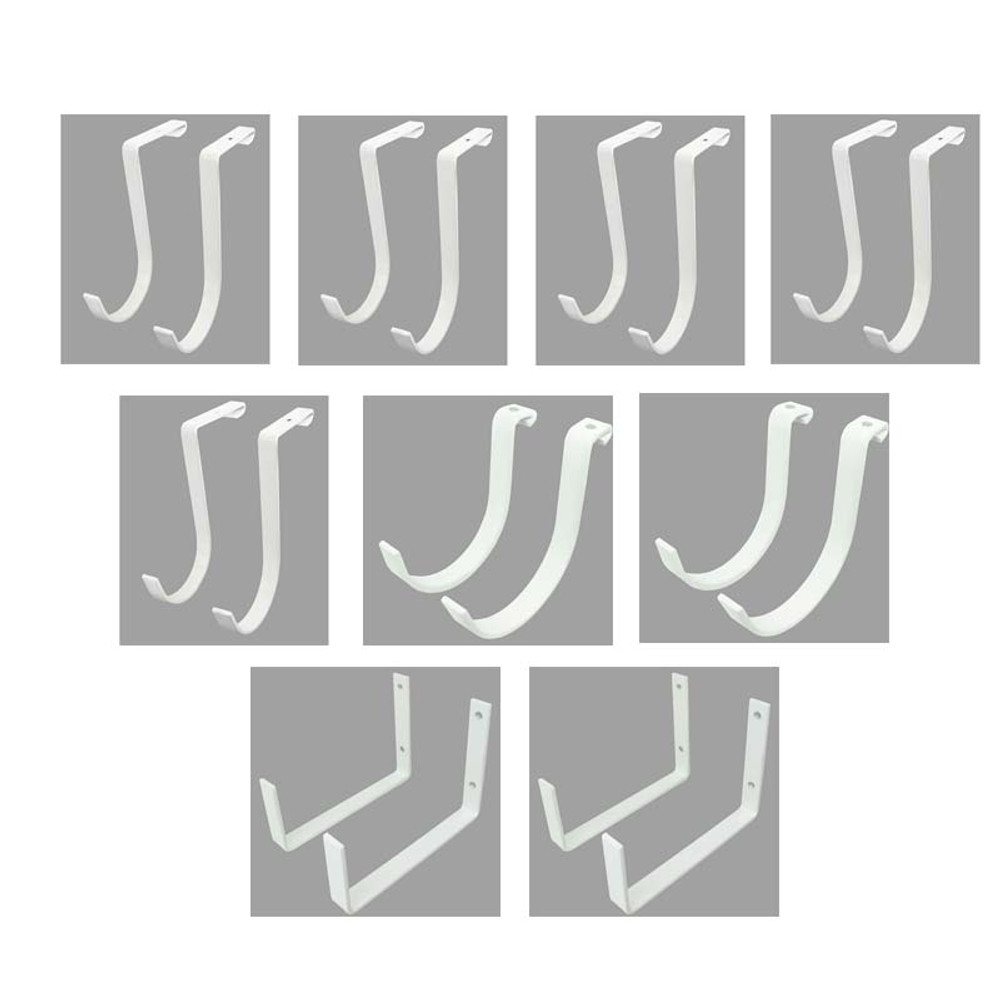 SafeRacks Hook Accessory Package (18-Pack) - White