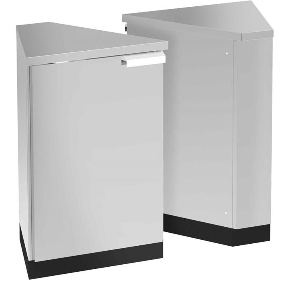 NewAge Stainless Steel 45-Degree Corner Cabinet (Set of 2)