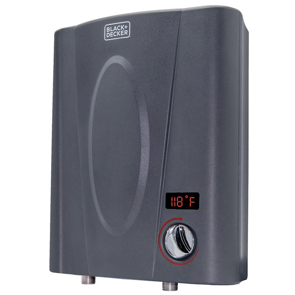 BLACK+DECKER 11 kW Self-Modulating 2.35 GPM Electric Tankless Water Heater, Point of Use hot water heater electric