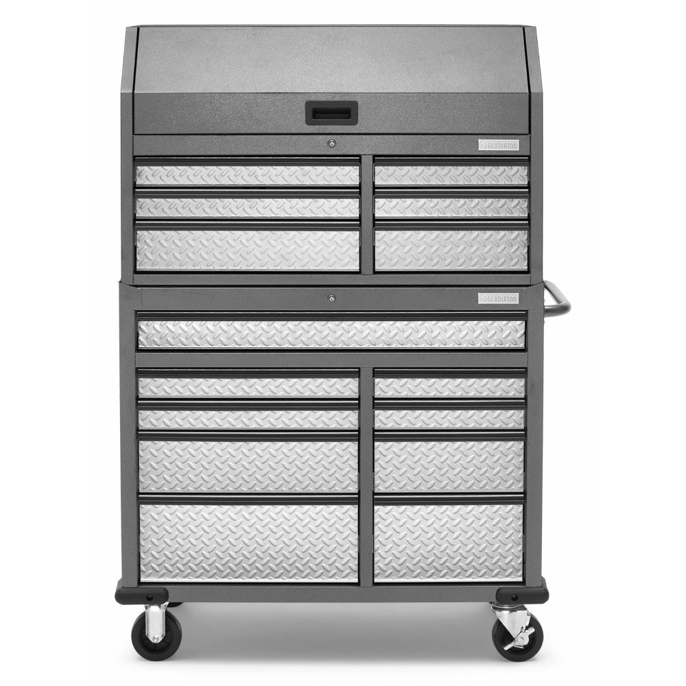 """Gladiator 41"""" 15 Drawer Mobile Tool Chest Combo"""