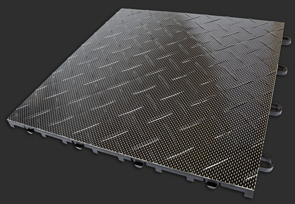 "RaceDeck TuffShield Diamond Carbon Fiber 12"" x 12"""