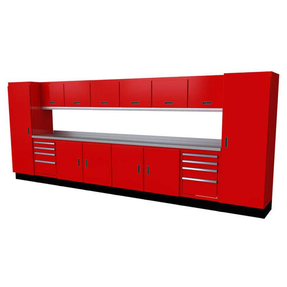 Moduline Select Series 15-Piece Garage Cabinet Set - Red