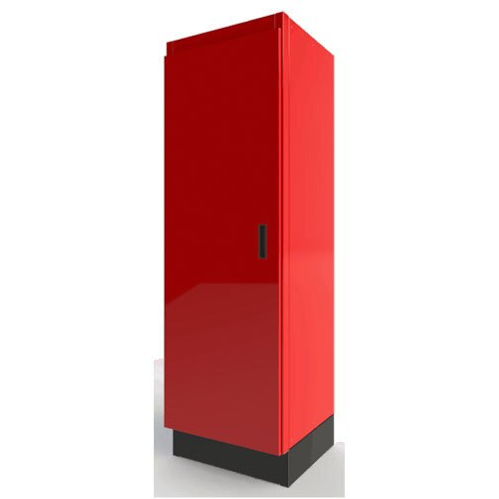 Moduline Select Series Aluminum Closet Cabinet With Adjustable Shelf and Bottom - Red