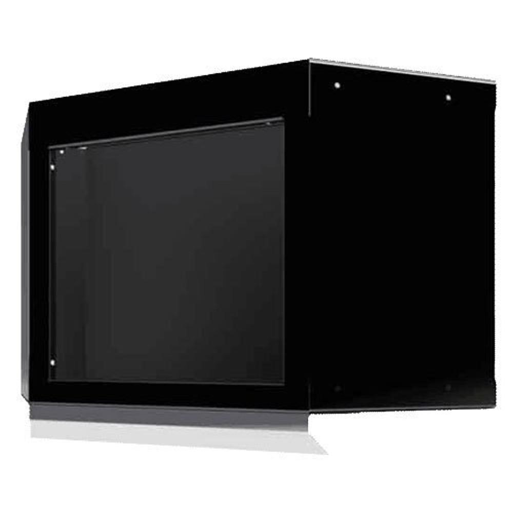 Moduline Select Series Aluminum Open Face Corner Cabinet With Light Shield - Black