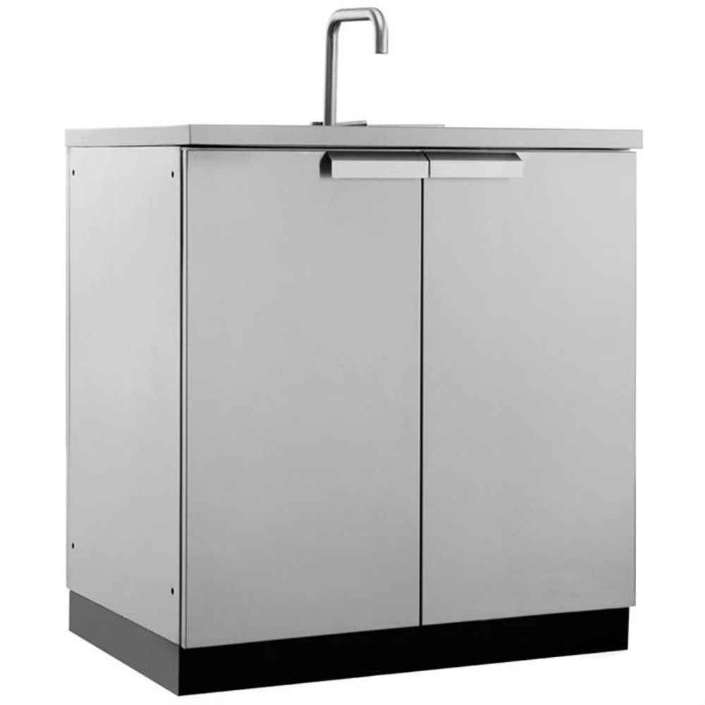 """NewAge Stainless Steel 32""""W x 24""""D Sink Cabinet"""