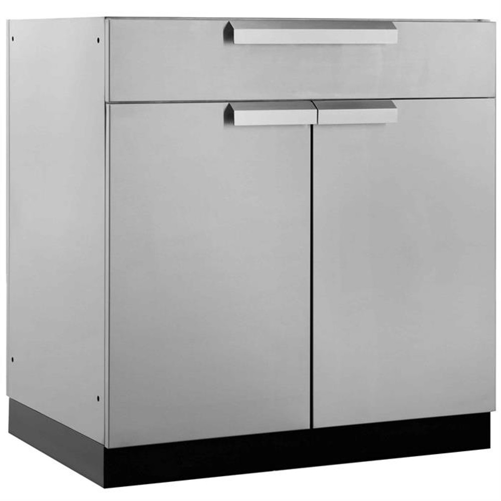 """NewAge Stainless Steel 32""""W x 23""""D Bar Cabinet"""
