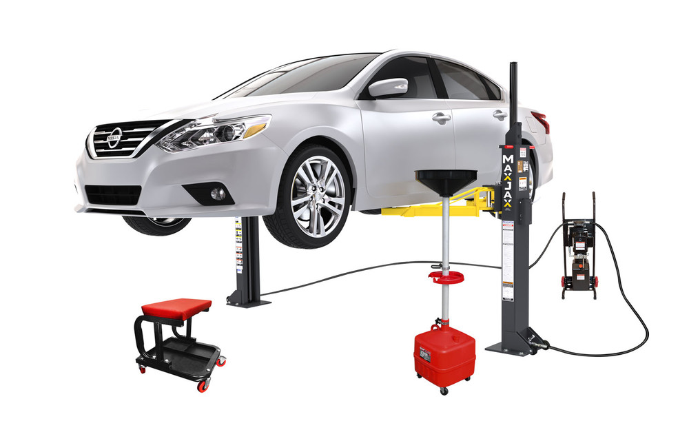 MaxJax M6K Portable Two-Post Garage Lift - Deluxe Package