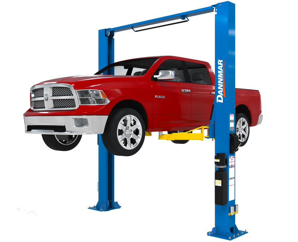 Dannmar D2-12C Symmetric 12,000 lb. capacity Two-Post Lift with Triple-Telescoping Low-Pro Arms