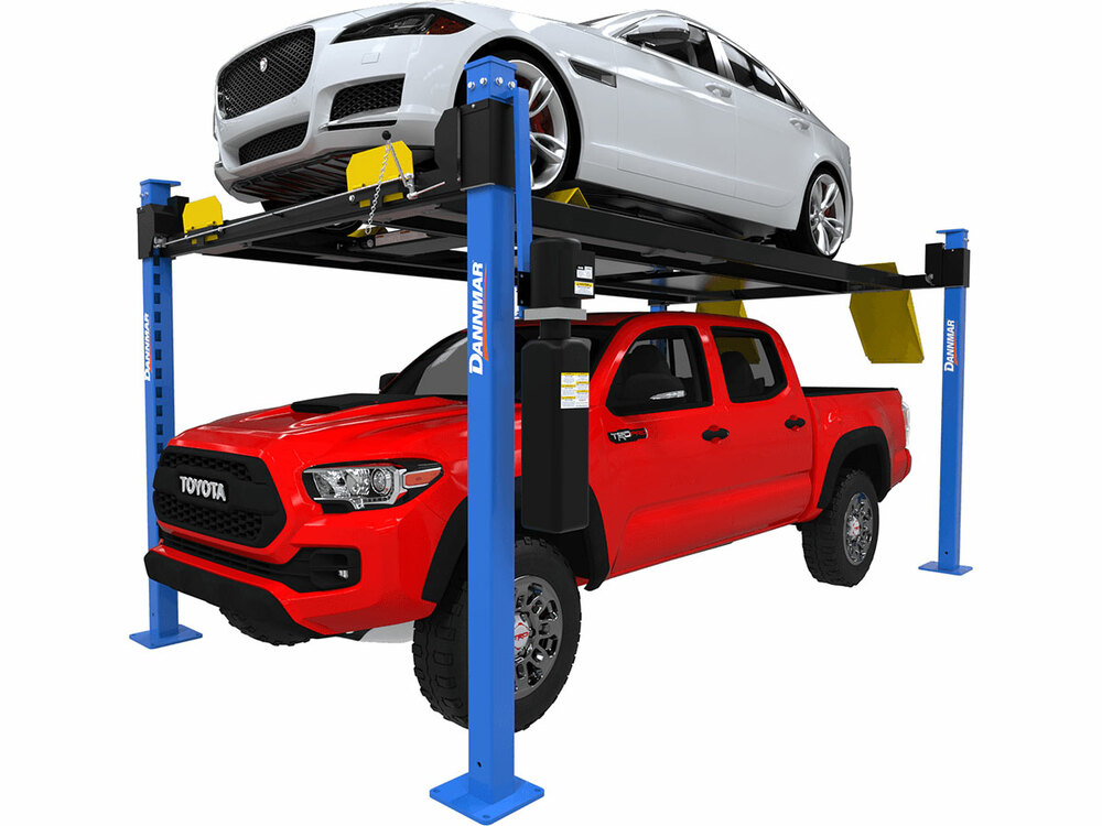Dannmar D4-9X Package 9,000-lbs. ALI Certified Capacity Four-Post Lift Package