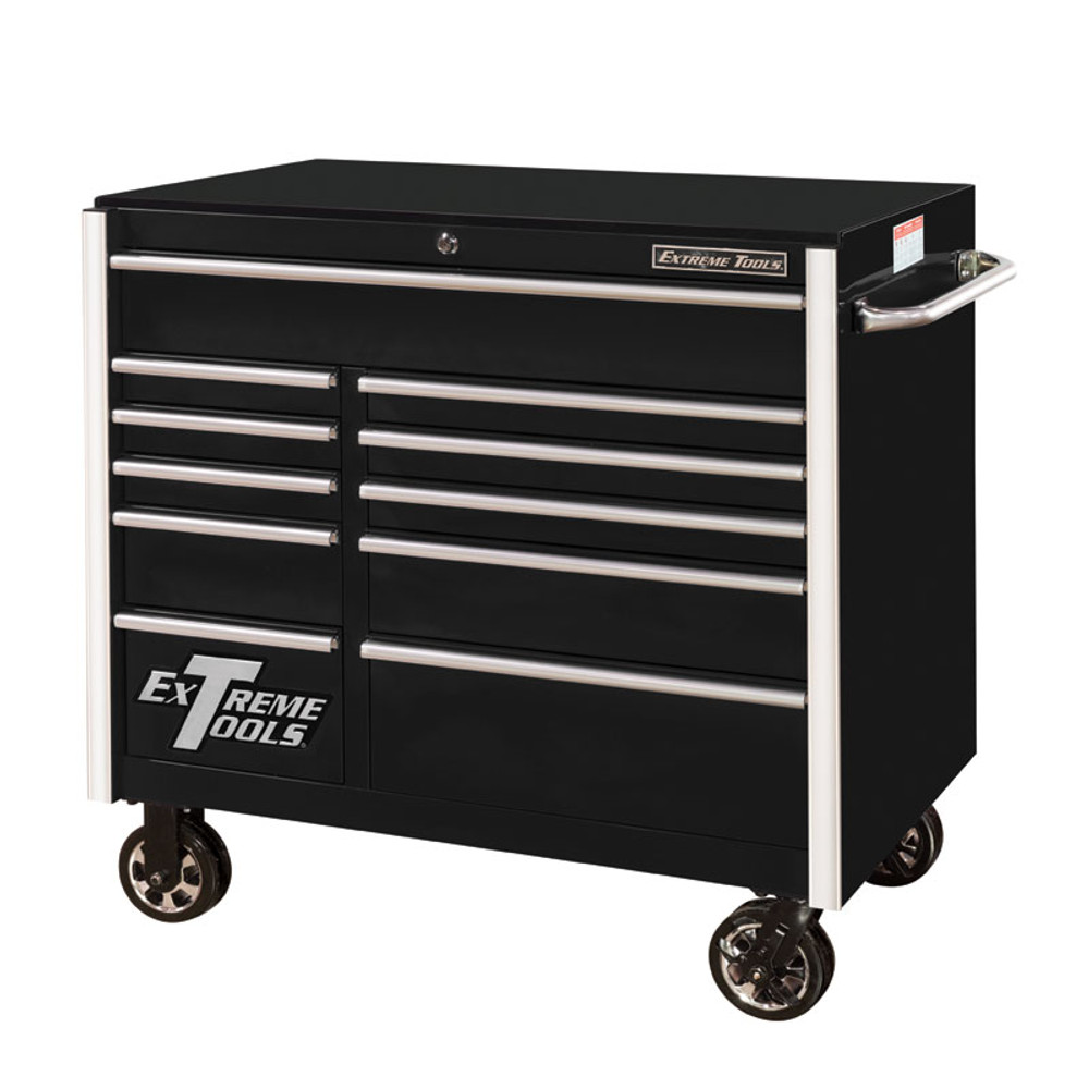 "Extreme Tools RX Series 41"" 11-Drawer Roller Cabinet - Black"