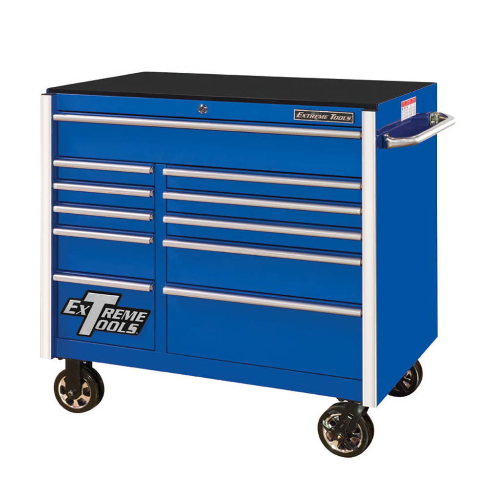 "Extreme Tools RX Series 41"" 11-Drawer Roller Cabinet - Blue"