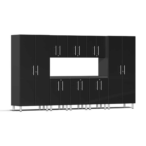 Ulti-MATE Garage 2.0 Series Black Metallic 9 PC Kit with Worktop