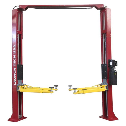 Launch Tech USA TLT210-XT-R 10,000 lb. ALI Certified 2-Post Asymmetrical Clear Floor Lift - Red