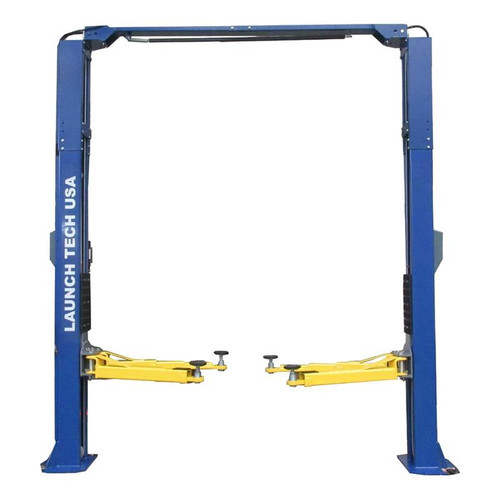 Launch Tech USA TLT210-XT-B 10,000 lb. ALI Certified 2-Post Asymmetrical Clear Floor Lift - Blue