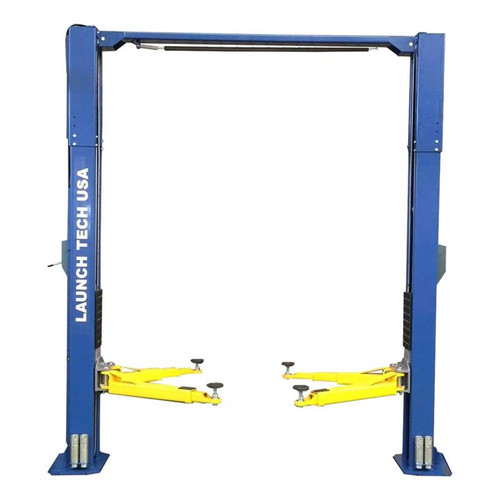 Launch Tech USA TLT211-AS-B 11,000 lb. ALI Certified 2-Post Asymmetrical Clear Floor Lift - Blue