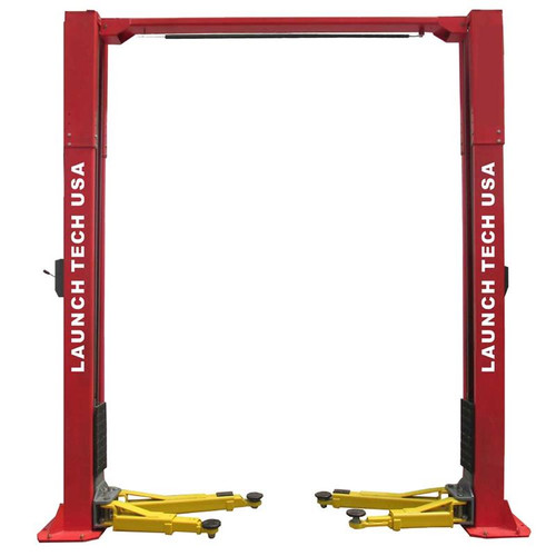Launch Tech USA TLT211-AS-R 11,000 lb. ALI Certified 2-Post Asymmetrical Clear Floor Lift - Red