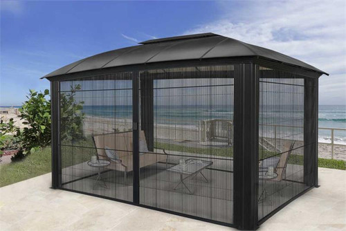 Paragon Outdoor Siena 12x16 Hard Top Gazebo with Sliding Screen