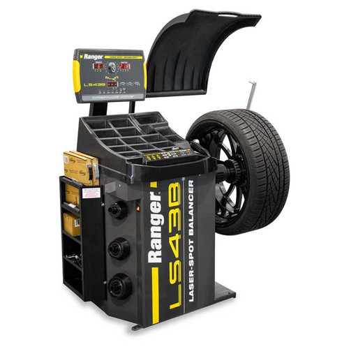 Ranger LS43B Wheel Balancer / 3D Quick-Touch Laser-Spot / 36 mm Shaft - Yellow/Gray