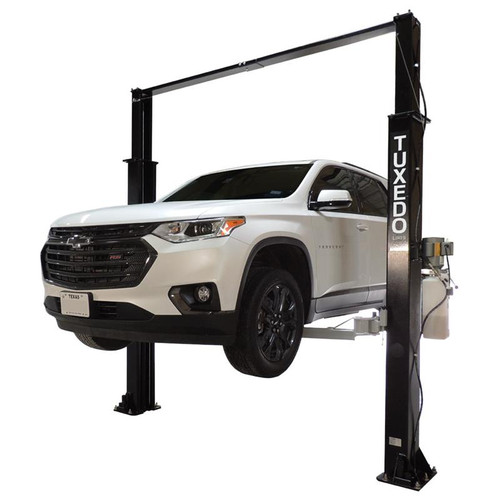 Tuxedo TP9KAC-TUX 9,000 lb. 2-Post Asymmetric Clear Floor Car Lift