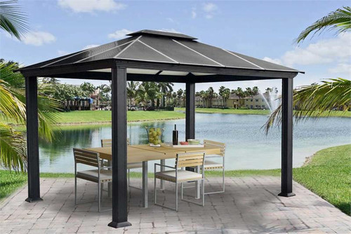 Paragon Outdoor Santa Monica 11x13 Hard Top Gazebo