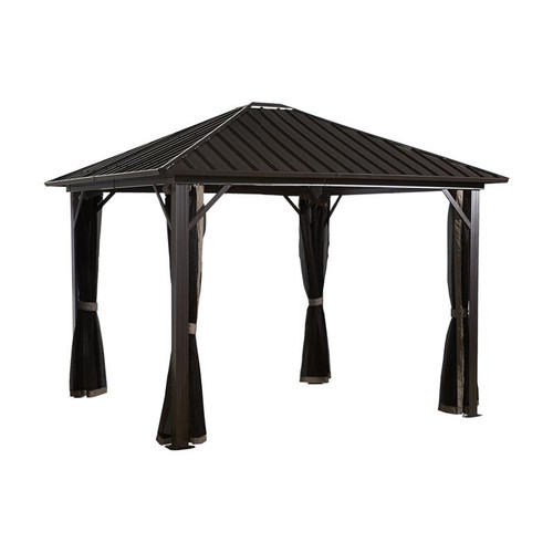 Sojag Genova 10x10 Hard Top Gazebo with Mosquito Netting