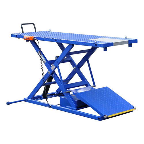 iDEAL M-2200IEH-XR Elec-Hydra Motorcycle Lift Bench w/Integrated Motor & Retractable Ramp