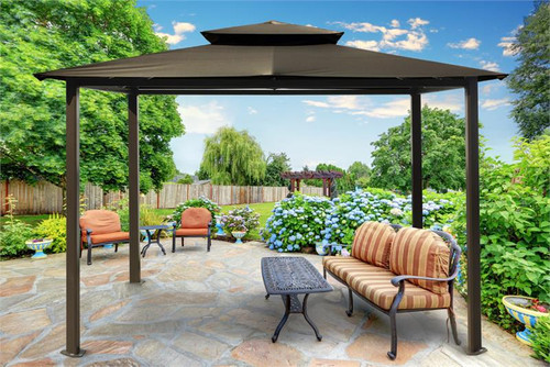 Paragon Outdoor Barcelona 10x12 Gazebo with Grey Top